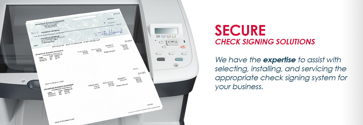 Secure Check Signing Solutions
