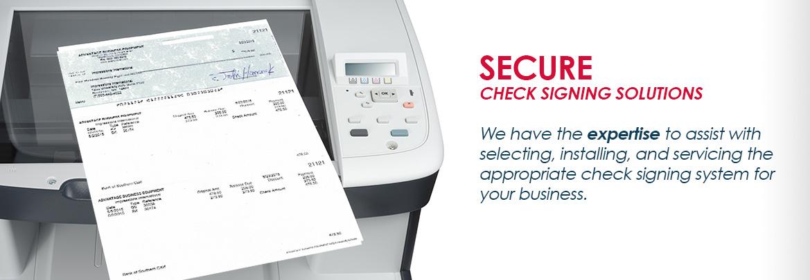 check signing machine
