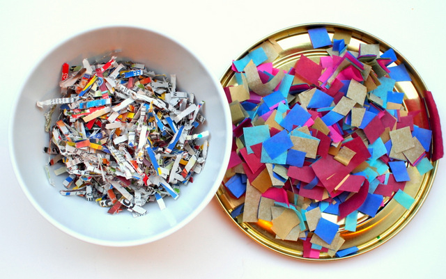 Image Cross cut and confetti cut paper shredder differences!