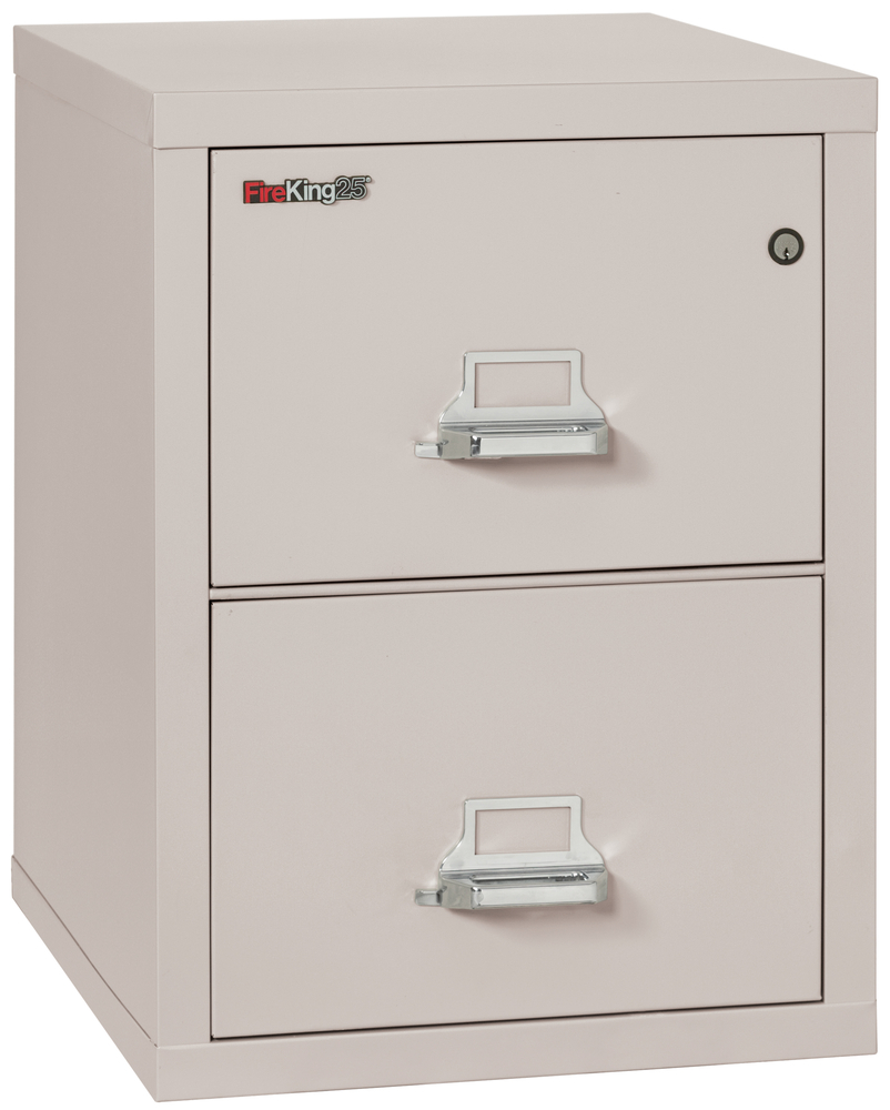 Fireproof Fireking 25 Vertical 2 Drawer Legal File Cabinet