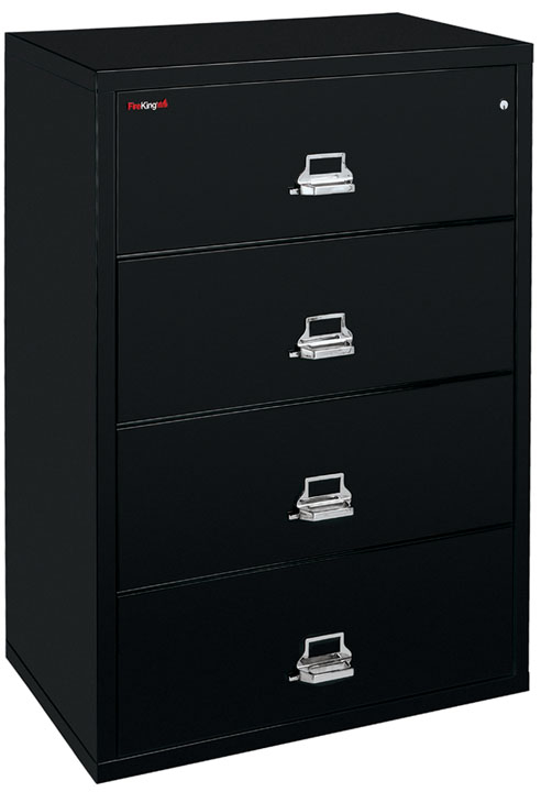 Fireking International 4 Drawer Lateral File Cabinet With