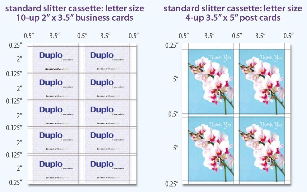 DUPLO CC-228 DOCUCUTTER BUSINESS CARD CUTTER   Card Slitters