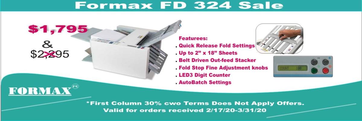 Formax FD 324 Desktop Folder Sale
