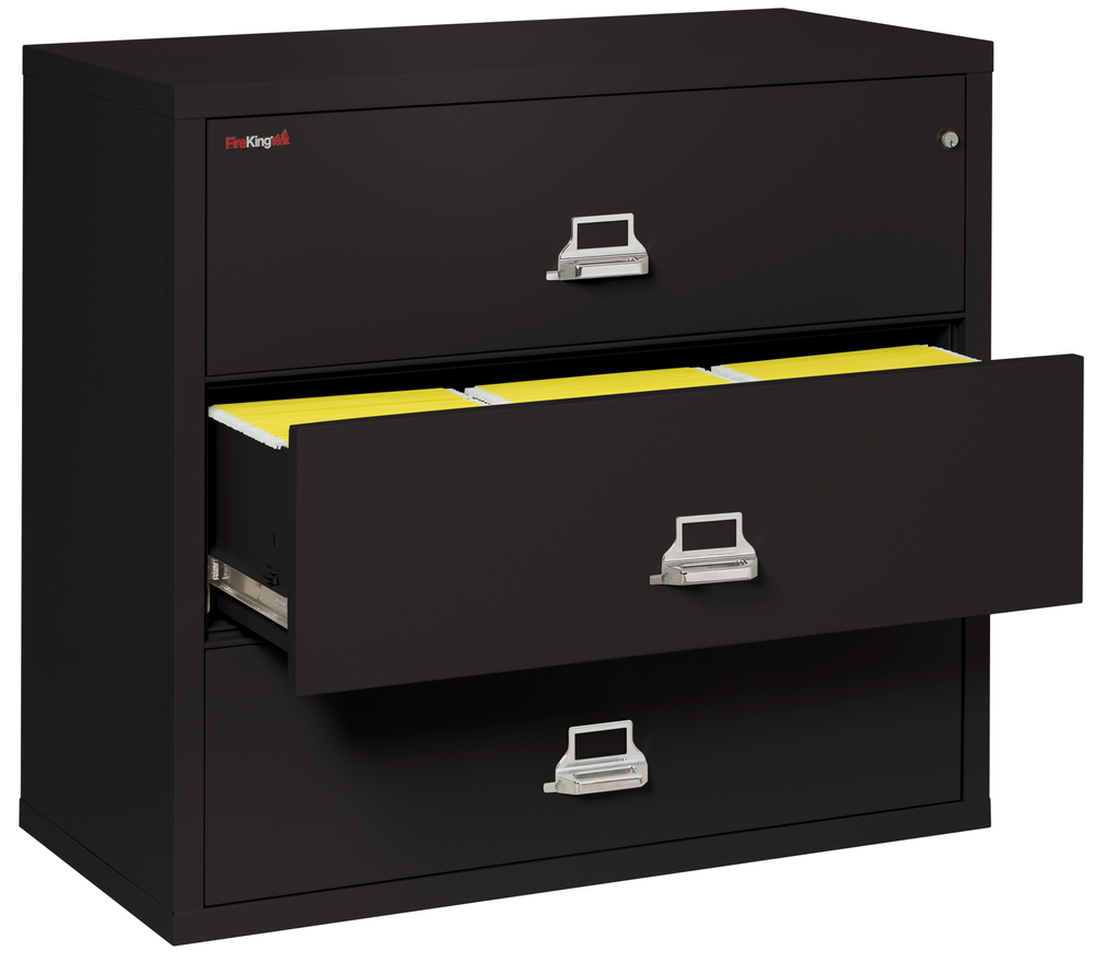fireking file cabinets fireproof fireking 3 drawer lateral 44 quot wide file cabinet 15445