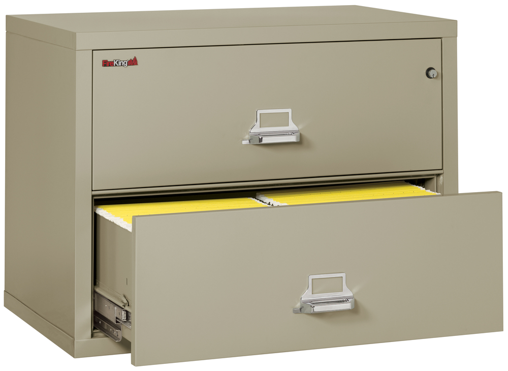 Fireproof Fireking 2 Drawer Lateral 38 Quot Wide File Cabinet