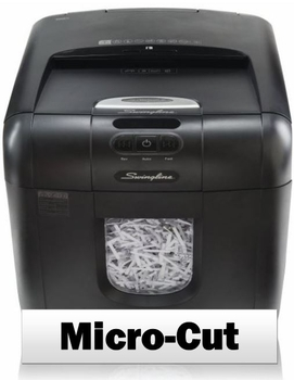 Swingline Stack-and-Shred 100M Auto Feed Shredder, Micro-Cut, 100 Sheets