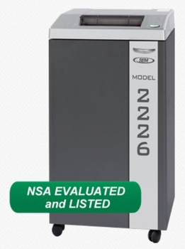 SEM 2226C/3NO High Security NSA / CSS Certified Paper Shredder