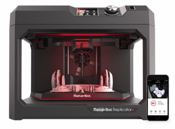 Image MakerBot Replicator + Desktop 3D printer Plus
