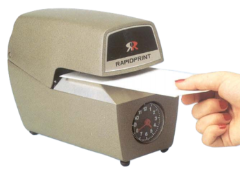 Rapidprint Time and Date Stamp with Analog Clock ARC-E