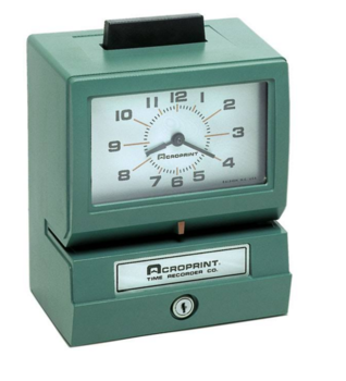 Image Acroprint Model 125 time clock