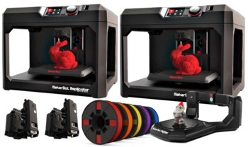 Image MakerBot Replicator Desktop 3D printer | Fifth Generation Educational Bundle