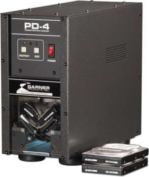 Image PD-4 Garner Hard Drive destroyer