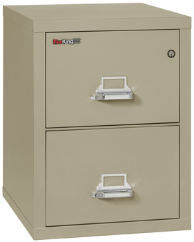 Fireproof Fireking 25 Vertical 2 Drawer Letter File Cabinet