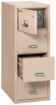 Fireproof Fireking 4 Drawer Legal Safe-in-a-File Cabinet
