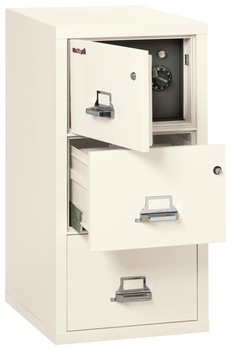 Image Fireproof Fireking 3 Drawer Legal Safe-in-a-File Cabinet
