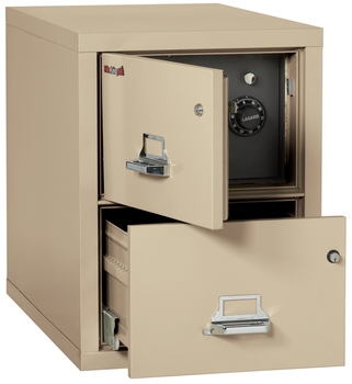 Fireproof Fireking 2 Drawer Legal Safe-in-a-File Cabinet