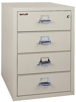 Image Fireproof Fireking Card-Check-Note 4 Drawer File Cabinet