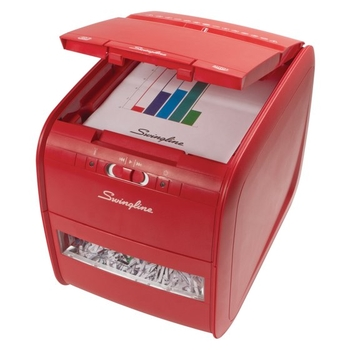 Swingline Stack-and-Shred Red 60X Auto Feed Shredder