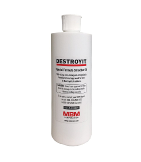 DESTROYIT Universal Shredder Oil (Case of 8 bottles, 1 pint each)