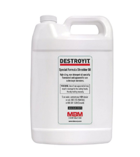 DESTROYIT Universal Shredder Oil (Case of 4 bottles, 1 gallon each)