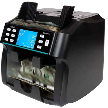 Image Kolibri Signature 2-Pocket Mixed Bill Counter, Sorter and Reader