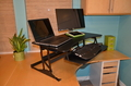 Image Marathon Elevated Desk | Extra large adjustable desk for dual monitors.