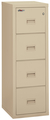 Image Fireproof Fireking 4 Drawer Vertical File Cabinet Letter