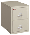 Image Fireking International 2 Drawer Legal File Cabinet with Chrome Handles