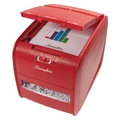 Image Swingline Stack-and-Shred Red 60X Auto Feed Shredder