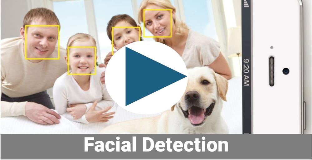 Facial tracking camera